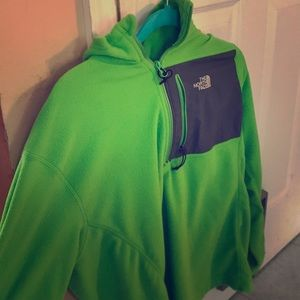 Green North Face Zip up/Jacket/Throwover